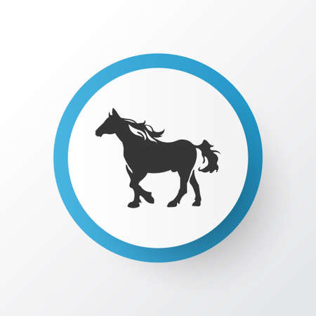 Horse icon symbol. Premium quality isolated stallion element in trendy style.