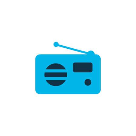 Fm icon colored symbol. Premium quality isolated radio element in trendy style.