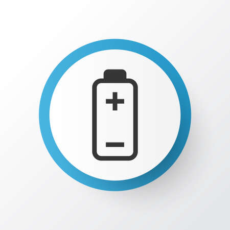 Accumulator icon symbol. Premium quality isolated battery element in trendy style.