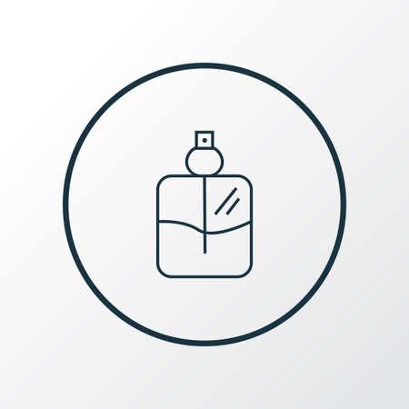 Cologne spray icon line symbol. Premium quality isolated perfume element in trendy style. Stock Photo