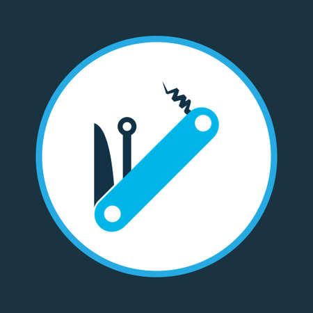 Multitool icon colored symbol. Premium quality isolated penknife element in trendy style.