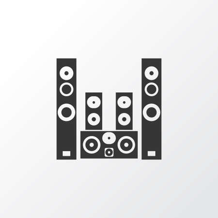 Sound system icon symbol. Premium quality isolated amplifier element in trendy style. Illustration