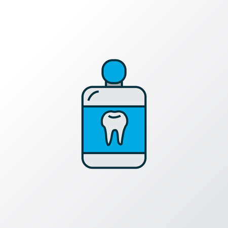 Mouthwash icon colored line symbol. Premium quality isolated cleanser element in trendy style.