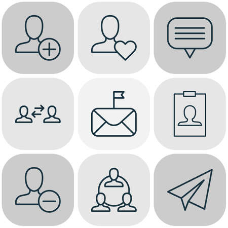 Network icons set with user interaction, badge, best and other significant