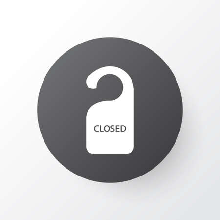 The sign is closed icon symbol. Premium quality isolated close label element in trendy style. Illustration