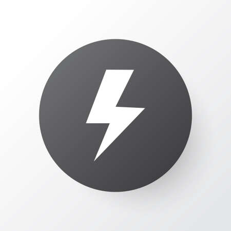 Lightning icon symbol. Premium quality isolated flash element in trendy style.