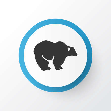 Bear icon symbol. Premium quality isolated grizzly element in trendy style.