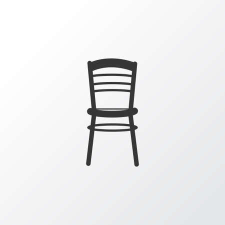 Seat icon symbol. Premium quality isolated chair element in trendy style.