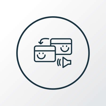 Pingback icon line symbol. Premium quality isolated exchange element in trendy style. Stock Illustratie