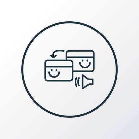 Pingback icon line symbol. Premium quality isolated exchange element in trendy style.