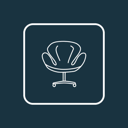 Modern armchair icon line symbol. Premium quality isolated office chair element in trendy style. Vector Illustratie