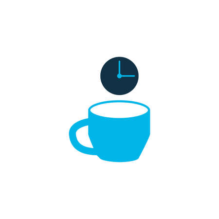 Coffee break icon colored symbol. Premium quality isolated tea time element in trendy style. Ilustrace