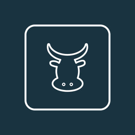 Beef icon line symbol. Premium quality isolated cow element in trendy style. Illustration