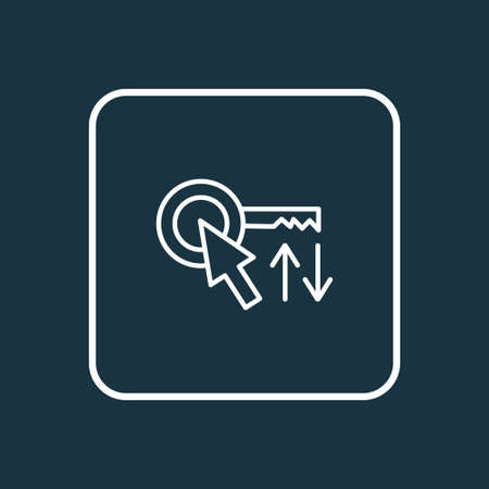 Sort keywords icon line symbol. Premium quality isolated arrow element in trendy style.