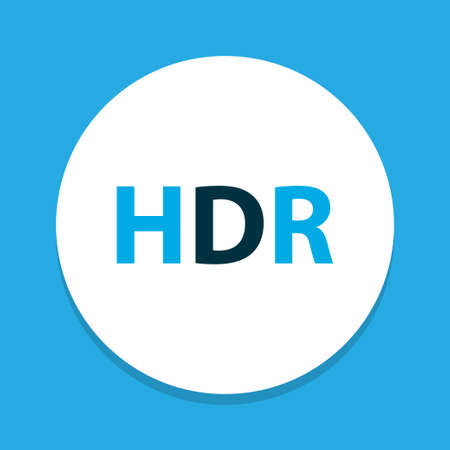 Hdr icon colored symbol. Premium quality isolated high dynamic range element in trendy style. 向量圖像