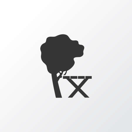 Picnic table icon symbol. Premium quality isolated relaxation element in trendy style.