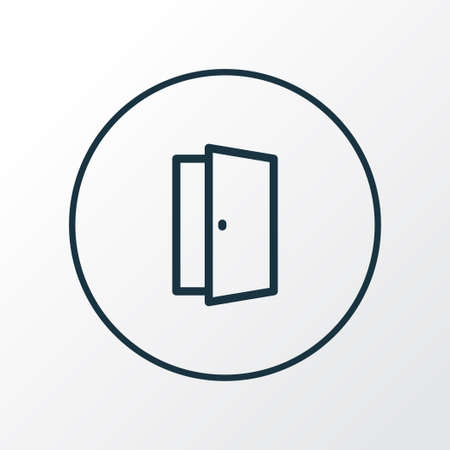 Door icon line symbol. Premium quality isolated approach element in trendy style.