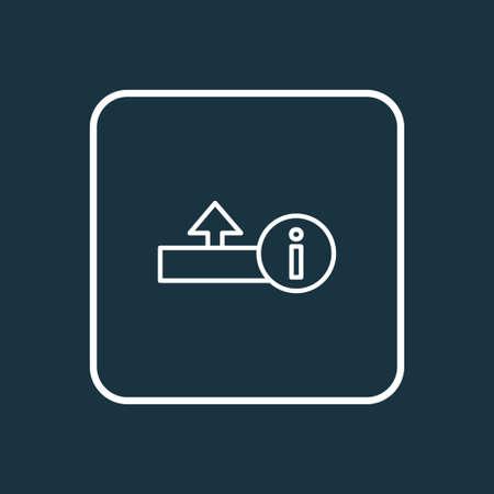 Upload icon line symbol. Premium quality isolated uploading element in trendy style.
