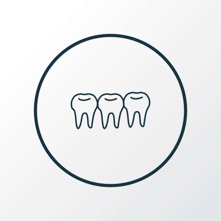 Teeth icon line symbol. Premium quality isolated denture element in trendy style. Standard-Bild - 119676018