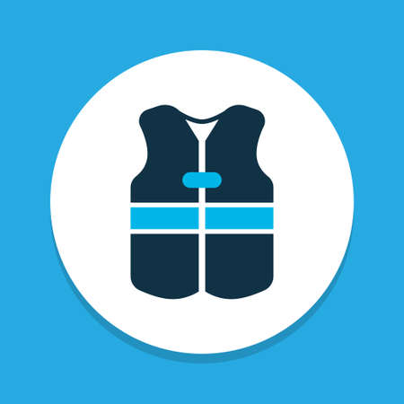 Vest icon colored symbol. Premium quality isolated lifesaver element in trendy style.