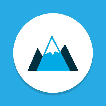Landscape icon colored symbol. Premium quality isolated mountains element in trendy style. Illustration