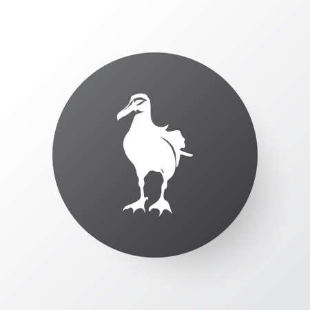 Albatross icon symbol. Premium quality isolated gull element in trendy style.