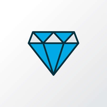 Diamond icon colored line symbol. Premium quality isolated brilliant element in trendy style. Ilustrace
