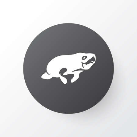 Seacow icon symbol. Premium quality isolated manatee element in trendy style.