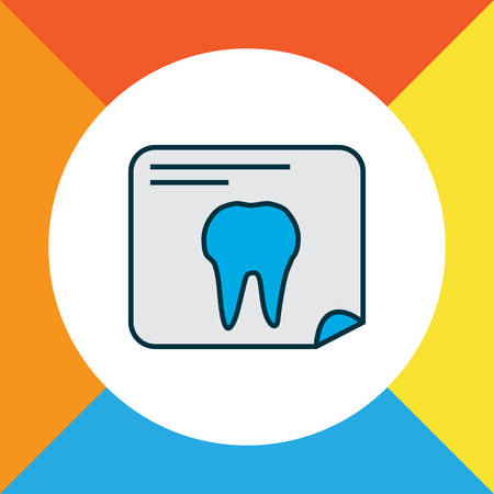 Tooth x-ray icon colored line symbol. Premium quality isolated radiology element in trendy style.