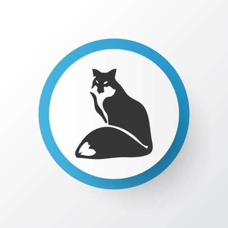 Fox icon symbol. Premium quality isolated coyote element in trendy style.