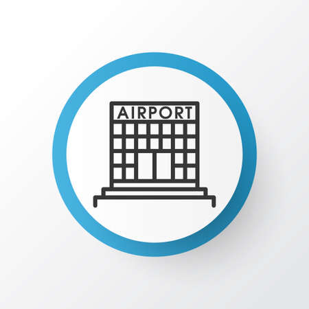 Airport building icon symbol. Premium quality isolated airfield manufacture element in trendy style.