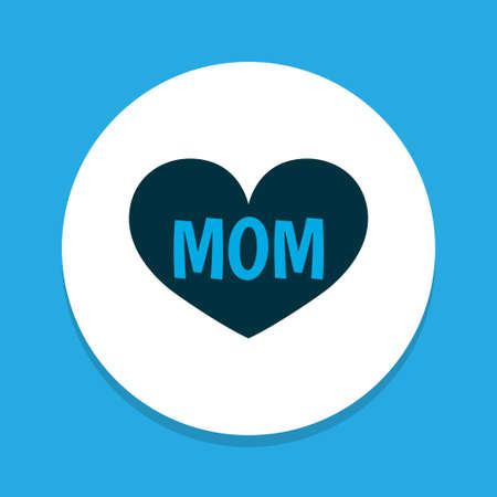 Mom icon colored symbol. Premium quality isolated mum element in trendy style. Ilustração