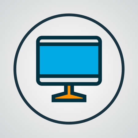 Computer monitor icon colored line symbol. Premium quality isolated screen element in trendy style. 版權商用圖片 - 122953768