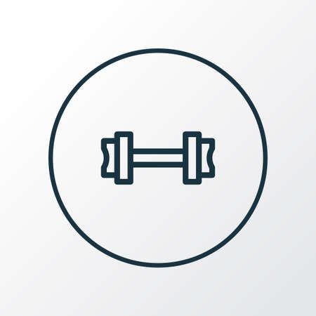 Fitness icon line symbol. Premium quality isolated dumbbell element in trendy style.