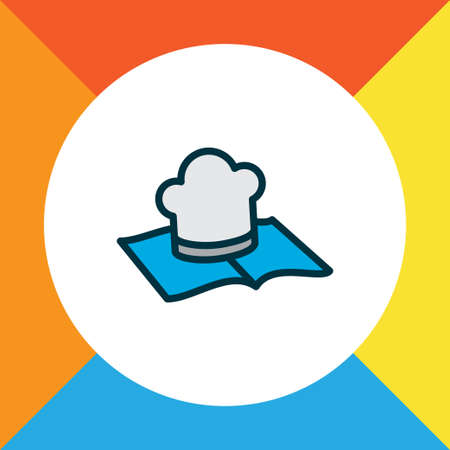 Recipe book icon colored line symbol. Premium quality isolated culinary element in trendy style.