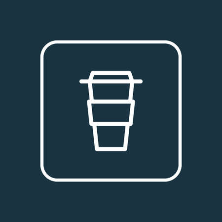Coffee icon line symbol. Premium quality isolated takeaway element in trendy style.