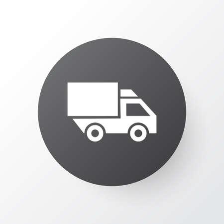 Truck icon symbol. Premium quality isolated van element in trendy style.