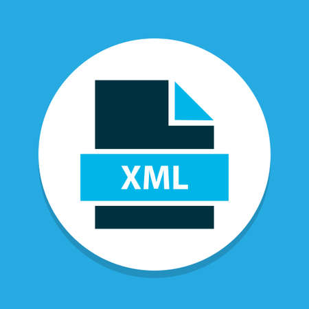 File xml icon colored symbol. Premium quality isolated markup language element in trendy style.