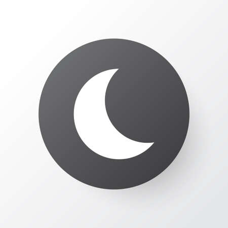 Night icon symbol. Premium quality isolated moon element in trendy style. Stock Photo