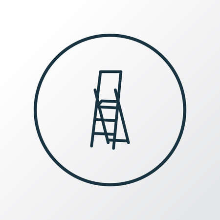 Stepladder icon line symbol. Premium quality isolated stairs element in trendy style.