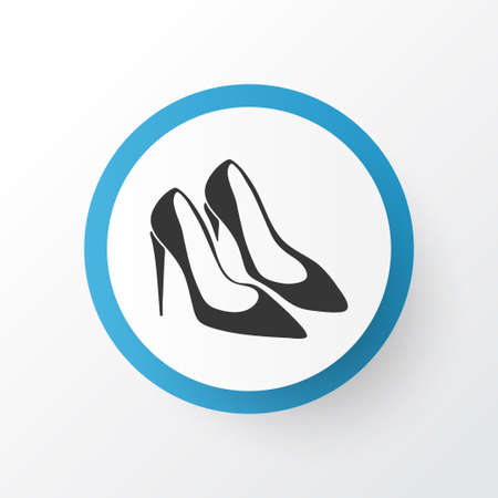 Pump shoes icon symbol. Premium quality isolated stiletto element in trendy style. Imagens
