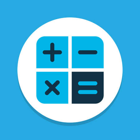 Calculator icon colored symbol. Premium quality isolated calculate element in trendy style.