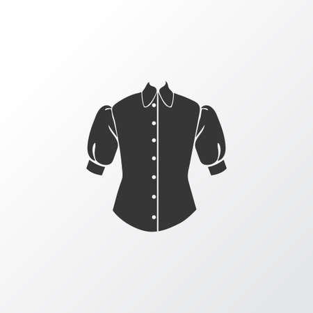 Blouse icon symbol. Premium quality isolated puffed sleeve shirt element in trendy style.