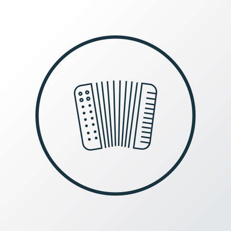 Accordion icon line symbol. Premium quality isolated musical instrument element in trendy style. Illustration