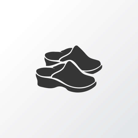 Flat shoes icon symbol. Premium quality isolated sandals element in trendy style.  イラスト・ベクター素材