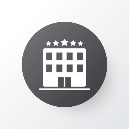 Hotel icon symbol. Premium quality isolated building element in trendy style.