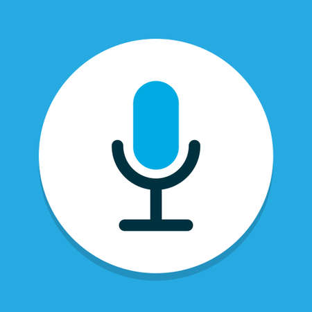 Video chat icon colored symbol. Premium quality isolated microphone element in trendy style. Illustration