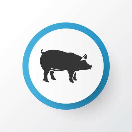 Pig icon symbol. Premium quality isolated pork element in trendy style. Stock Photo