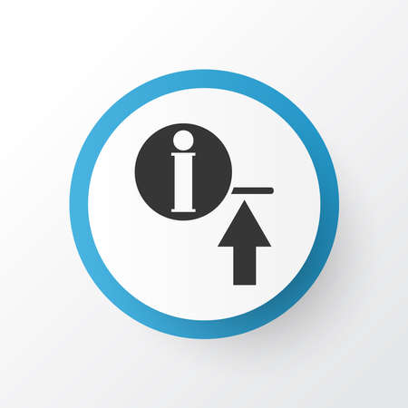 Upload information icon symbol. Premium quality isolated uploading element in trendy style.