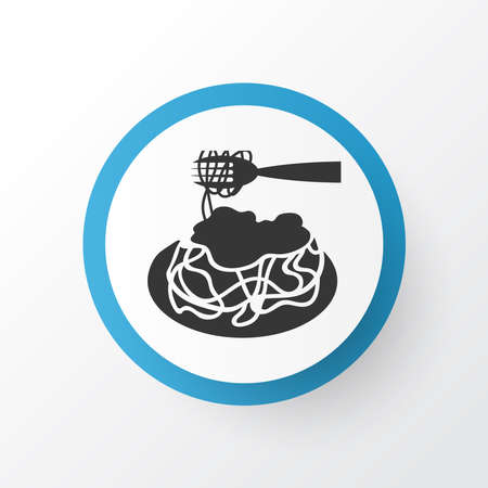 Pasta bolognese icon symbol. Premium quality isolated italian food element in trendy style. 스톡 콘텐츠